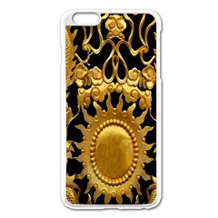 Golden Sun Apple Iphone 6 Plus/6s Plus Enamel White Case by Amaryn4rt