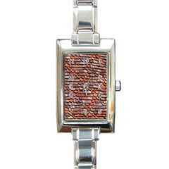 Roof Tiles On A Country House Rectangle Italian Charm Watch by Amaryn4rt