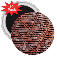 Roof Tiles On A Country House 3  Magnets (10 Pack)  by Amaryn4rt
