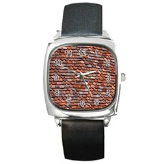 Roof Tiles On A Country House Square Metal Watch by Amaryn4rt