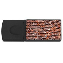 Roof Tiles On A Country House Usb Flash Drive Rectangular (4 Gb) by Amaryn4rt