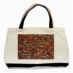 Roof Tiles On A Country House Basic Tote Bag (two Sides) by Amaryn4rt