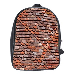Roof Tiles On A Country House School Bags(large)  by Amaryn4rt