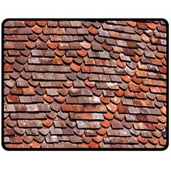 Roof Tiles On A Country House Fleece Blanket (medium)  by Amaryn4rt