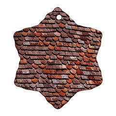 Roof Tiles On A Country House Snowflake Ornament (two Sides) by Amaryn4rt