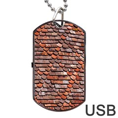 Roof Tiles On A Country House Dog Tag Usb Flash (one Side) by Amaryn4rt