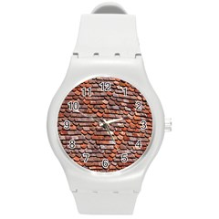 Roof Tiles On A Country House Round Plastic Sport Watch (m) by Amaryn4rt