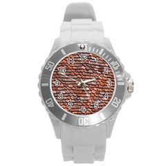 Roof Tiles On A Country House Round Plastic Sport Watch (l) by Amaryn4rt
