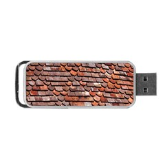 Roof Tiles On A Country House Portable Usb Flash (one Side) by Amaryn4rt