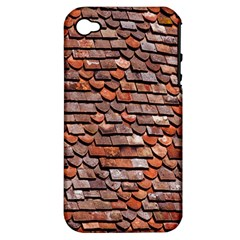 Roof Tiles On A Country House Apple Iphone 4/4s Hardshell Case (pc+silicone) by Amaryn4rt