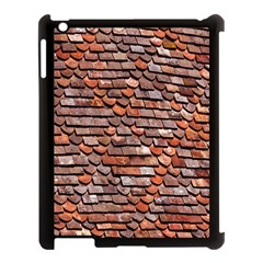 Roof Tiles On A Country House Apple Ipad 3/4 Case (black) by Amaryn4rt