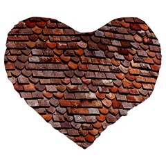 Roof Tiles On A Country House Large 19  Premium Heart Shape Cushions by Amaryn4rt