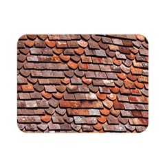 Roof Tiles On A Country House Double Sided Flano Blanket (mini)  by Amaryn4rt