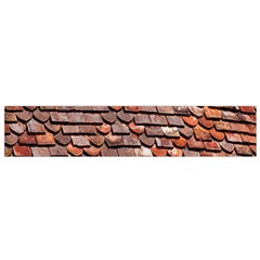 Roof Tiles On A Country House Flano Scarf (small) by Amaryn4rt
