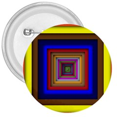 Square Abstract Geometric Art 3  Buttons by Amaryn4rt