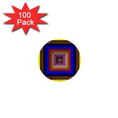Square Abstract Geometric Art 1  Mini Buttons (100 Pack)  by Amaryn4rt