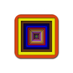 Square Abstract Geometric Art Rubber Coaster (square)  by Amaryn4rt