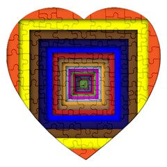 Square Abstract Geometric Art Jigsaw Puzzle (heart) by Amaryn4rt