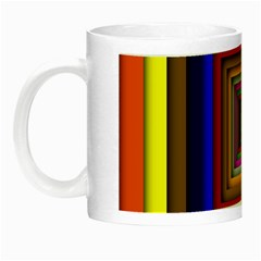 Square Abstract Geometric Art Night Luminous Mugs by Amaryn4rt