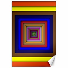 Square Abstract Geometric Art Canvas 24  X 36  by Amaryn4rt