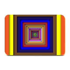 Square Abstract Geometric Art Plate Mats by Amaryn4rt