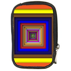 Square Abstract Geometric Art Compact Camera Cases by Amaryn4rt