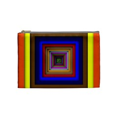 Square Abstract Geometric Art Cosmetic Bag (medium)  by Amaryn4rt