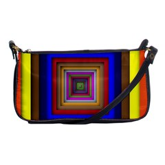 Square Abstract Geometric Art Shoulder Clutch Bags by Amaryn4rt