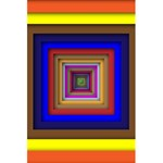 Square Abstract Geometric Art 5.5  x 8.5  Notebooks Front Cover