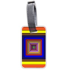 Square Abstract Geometric Art Luggage Tags (one Side)  by Amaryn4rt