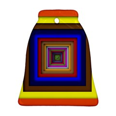 Square Abstract Geometric Art Ornament (bell) by Amaryn4rt
