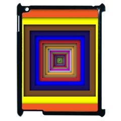 Square Abstract Geometric Art Apple Ipad 2 Case (black) by Amaryn4rt