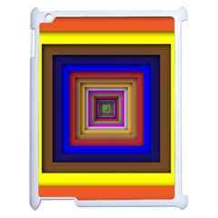 Square Abstract Geometric Art Apple Ipad 2 Case (white) by Amaryn4rt