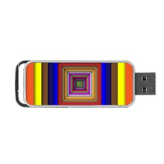 Square Abstract Geometric Art Portable Usb Flash (one Side) by Amaryn4rt