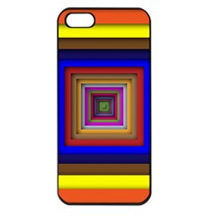 Square Abstract Geometric Art Apple Iphone 5 Seamless Case (black) by Amaryn4rt