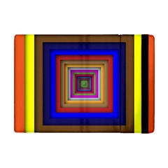 Square Abstract Geometric Art Apple Ipad Mini Flip Case by Amaryn4rt