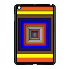 Square Abstract Geometric Art Apple Ipad Mini Case (black) by Amaryn4rt