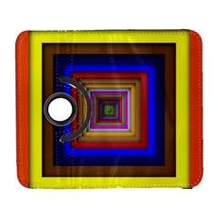 Square Abstract Geometric Art Galaxy S3 (flip/folio) by Amaryn4rt