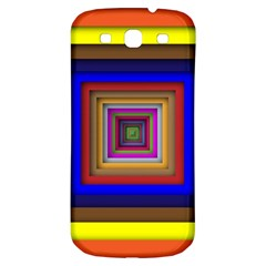 Square Abstract Geometric Art Samsung Galaxy S3 S Iii Classic Hardshell Back Case by Amaryn4rt