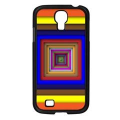 Square Abstract Geometric Art Samsung Galaxy S4 I9500/ I9505 Case (black) by Amaryn4rt
