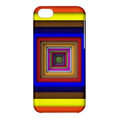 Square Abstract Geometric Art Apple Iphone 5c Hardshell Case by Amaryn4rt