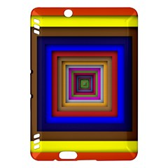 Square Abstract Geometric Art Kindle Fire Hdx Hardshell Case by Amaryn4rt