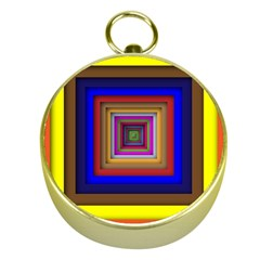 Square Abstract Geometric Art Gold Compasses by Amaryn4rt