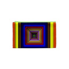 Square Abstract Geometric Art Cosmetic Bag (xs) by Amaryn4rt