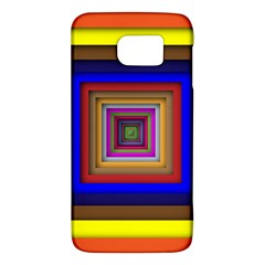 Square Abstract Geometric Art Galaxy S6 by Amaryn4rt