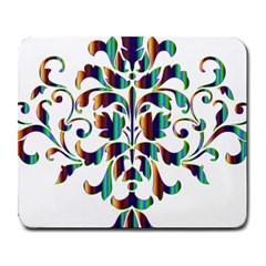 Damask Decorative Ornamental Large Mousepads by Amaryn4rt