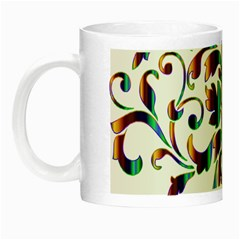 Damask Decorative Ornamental Night Luminous Mugs by Amaryn4rt