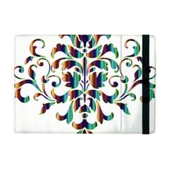 Damask Decorative Ornamental Apple Ipad Mini Flip Case by Amaryn4rt