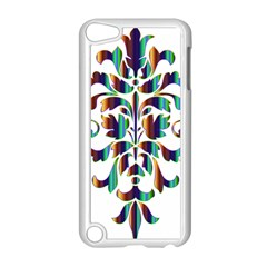 Damask Decorative Ornamental Apple Ipod Touch 5 Case (white) by Amaryn4rt
