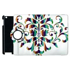 Damask Decorative Ornamental Apple Ipad 2 Flip 360 Case by Amaryn4rt